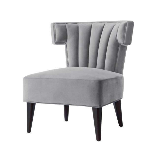 Sutton Velvet Wingback Chair By Nicole Miller
