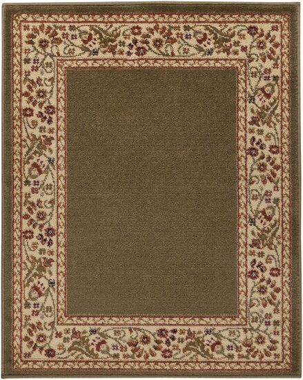 Arbus Green/Carmine Area Rug by Fleur De Lis Living