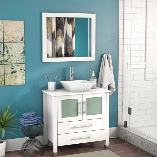 Bosarge 36 Single Sink Bathroom Vanity Set with Mirror by Mercury Row