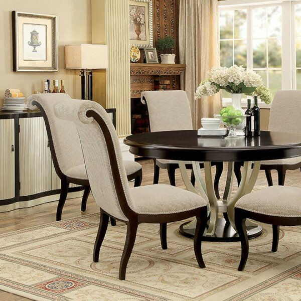 Faulks Contemporary Round Dining Table by Darby Home Co Darby Home Co
