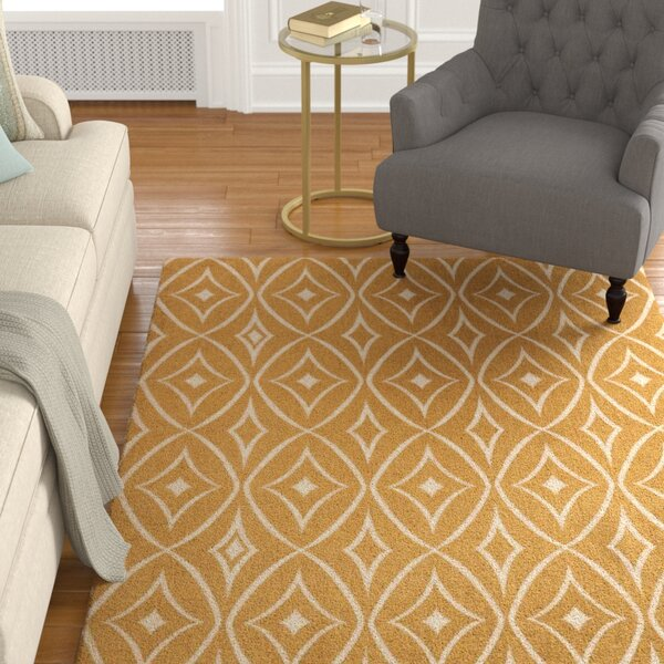 Argo Gold Area Rug by Charlton Home
