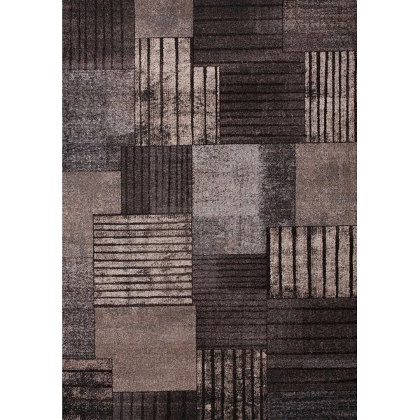 Tremont Gray/Chocolate Area Rug by Orren Ellis