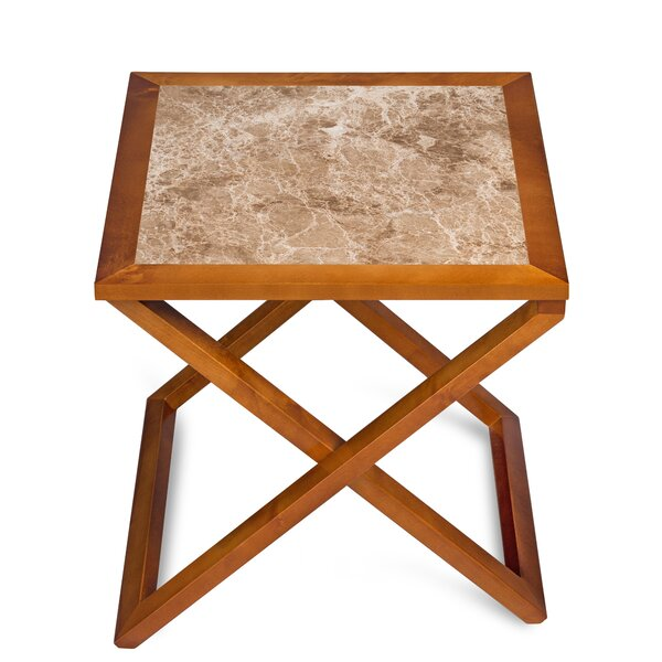 Union Craft Marron Light End Table by Red Barrel Studio
