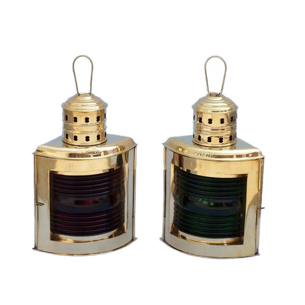 Port and Starboard Oil Lamp (Set of 2) by Handcrafted Nautical Decor