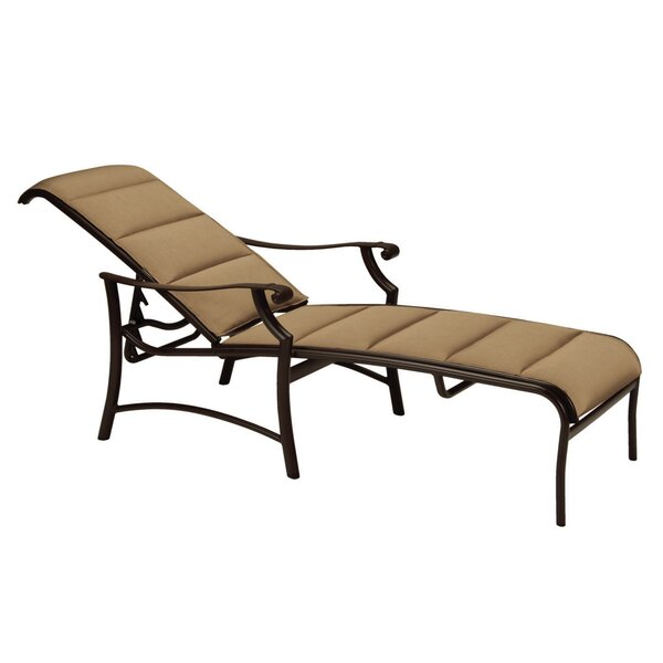 Montreux II Padded Sling Reclining Chaise Lounge by Tropitone