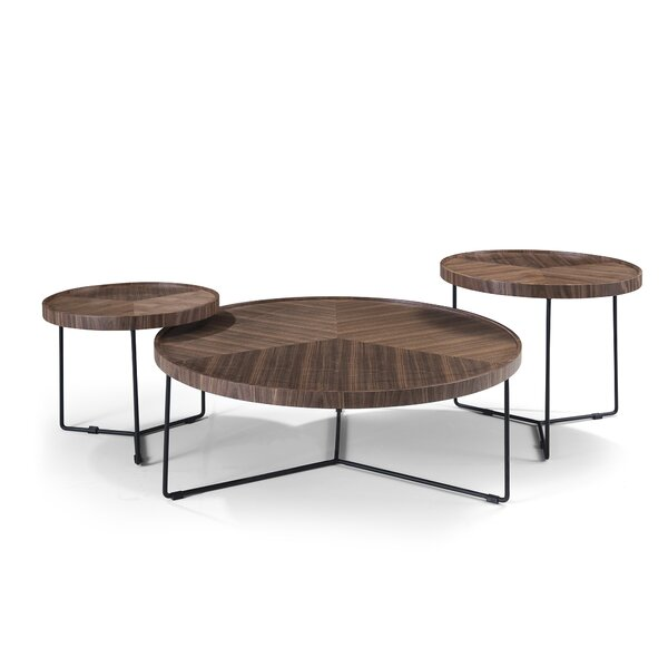 Heckson 3 Piece Coffee Table Set by Foundry Select Foundry Select