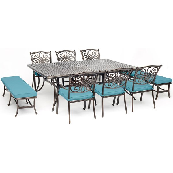 Yukon 9 Piece Dining Set with Cushion by Charlton Home
