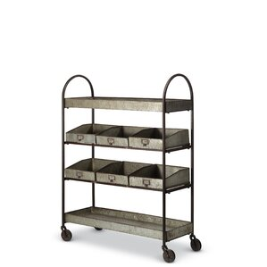 Galvanized Shelving Bar Cart by Foreside Home & Garden