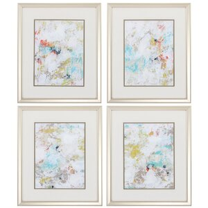 Frost 4 Piece Framed Painting Print Set by Propac Images
