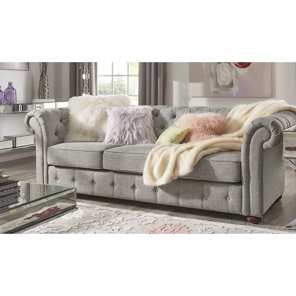 Last Trendy Vegard Chesterfield Sofa by Willa Arlo Interiors by Willa Arlo Interiors