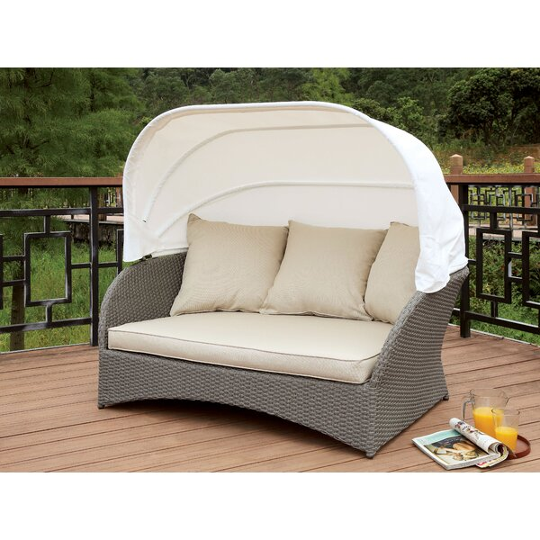 Aguon Patio  Daybed with Cushion by Latitude Run