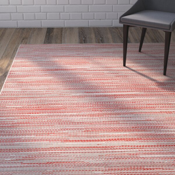 Juda Sand/Maroon Indoor/Outdoor Area Rug by Zipcode Design