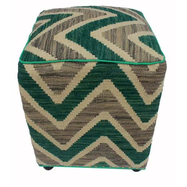 Rembert Kilim Cube Ottoman by World Menagerie