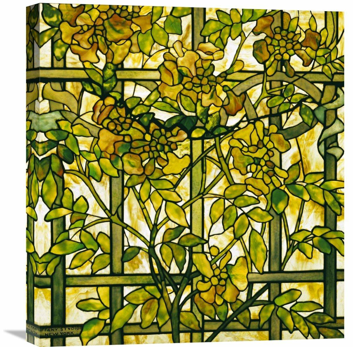 Global Gallery \'Trumpet Vine\' by Tiffany Studios Painting Print on ...