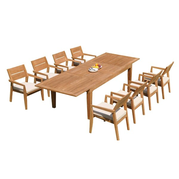 Caranas 9 Piece Teak Dining Set by Teak Smith