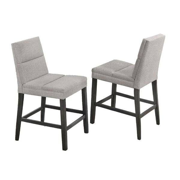 Necaise Upholstered Counter Height Dining Chair (Set of 2) by Wrought Studio