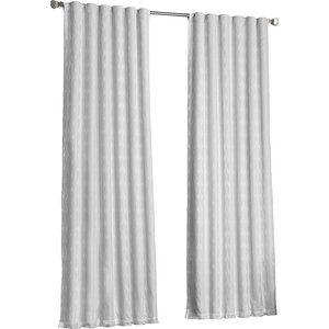 Fitzhugh Geometric Blackout Thermal Rod Pocket Single Curtain Panel