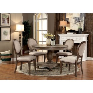 Updike 5 Piece Solid Wood Dining Set By Ophelia & Co.