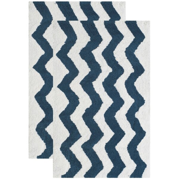 Wadley Hand-Tufted Nautical Blue Area Rug (Set of 2) by Harriet Bee