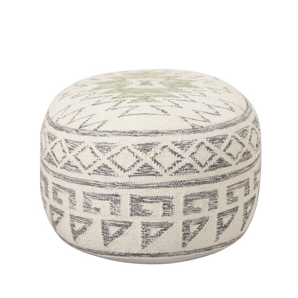Idella Kilim Pouf by Bungalow Rose