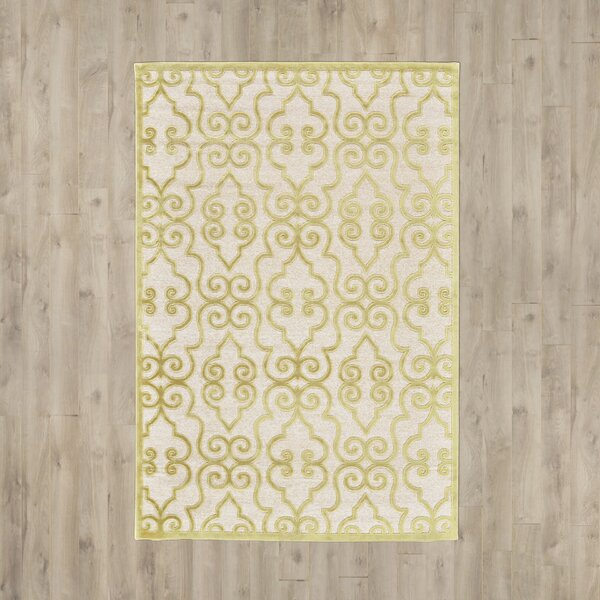 Robicheaux Cream Gold Area Rug by Lark Manor