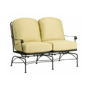 Fullerton Dual Spring Rocking Sofa with Cushions Woodard
