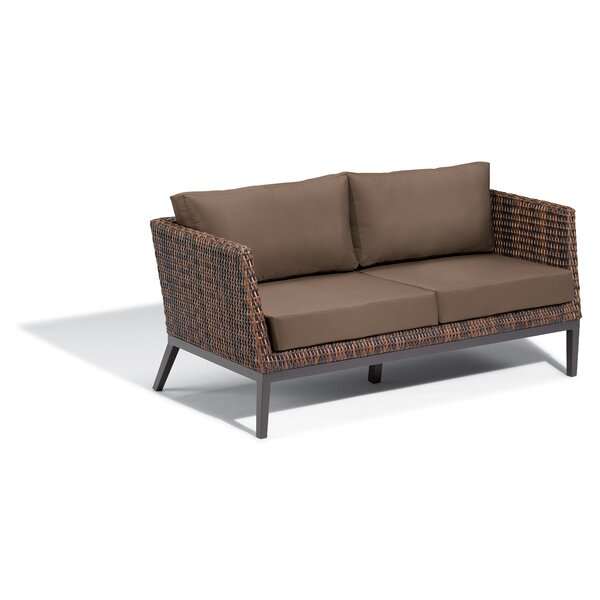 Cammack Woven Patio Sofa with Cushions by George Oliver