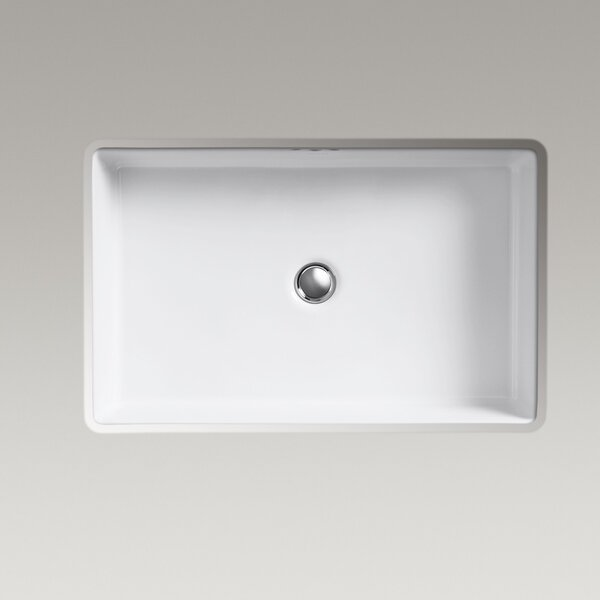 Kathryn Ceramic Undermount Bathroom Sink and Overflow by Kohler