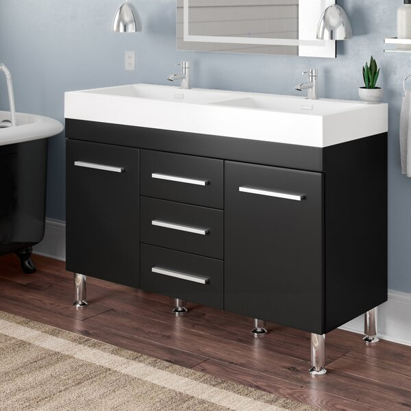 Waldwick 47 Double Bathroom Vanity Set by Wade Logan