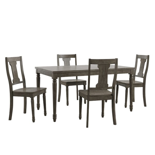 Petrucci Reclaimed Wood 5 Piece Dining Set by Alcott Hill