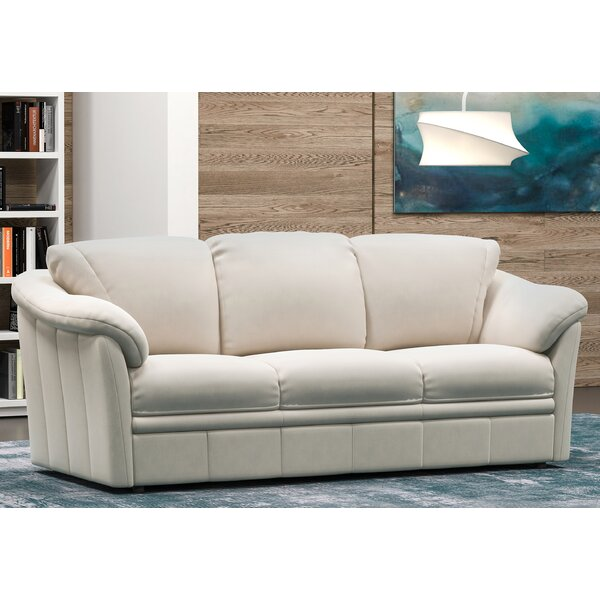 Modern Lyons Leather Sofa Bed by Westland and Birch by Westland and Birch