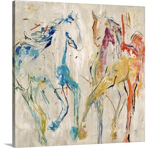 'Horse Dance' by Jodi Maas Painting Print on Canvas by Great Big Canvas