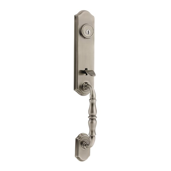 Amherst Double Cylinder Entrance Handleset, Exterior Handle Only by Kwikset