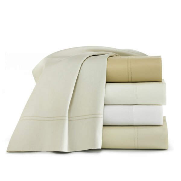 Lyric 500 Thread Count Egyptian-Quality Cotton Fitted Sheet by Peacock Alley