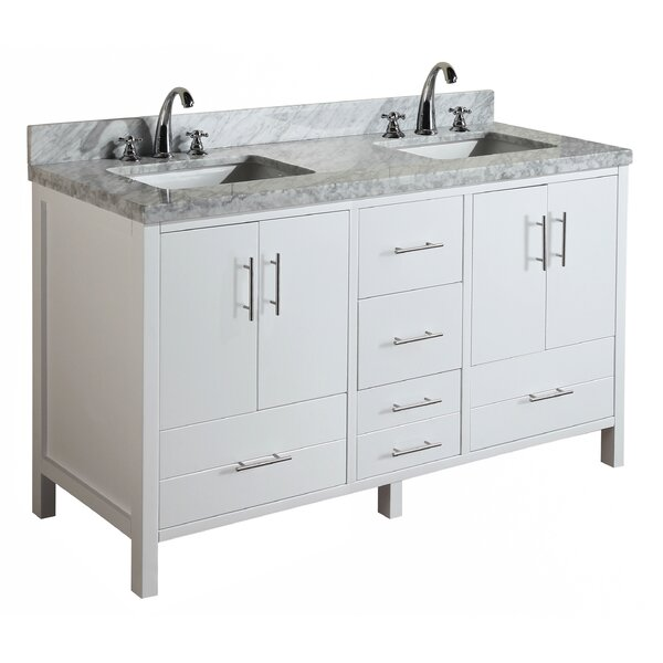 California 60 Double Bathroom Vanity Set by Kitche