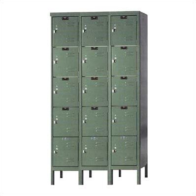 Premium 5 Tier 3 Wide Employee Locker By Hallowell.
