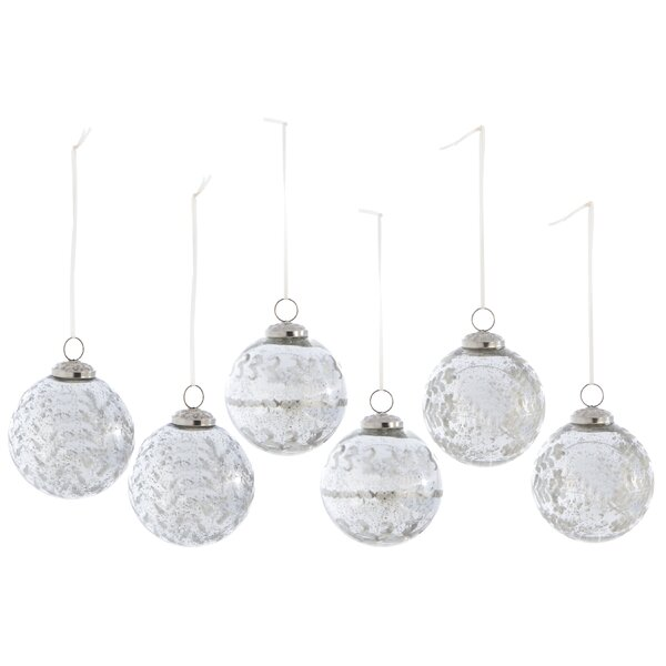 6 Piece Christmas Ball Ornament Set by Rosdorf Par