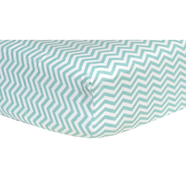 Chevron Print Flannel Fitted Crib Sheet by Trend Lab