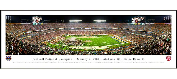 NCAA BCS Football Championship 2013 Standard Framed Photographic Print by Blakeway Worldwide Panoramas, Inc