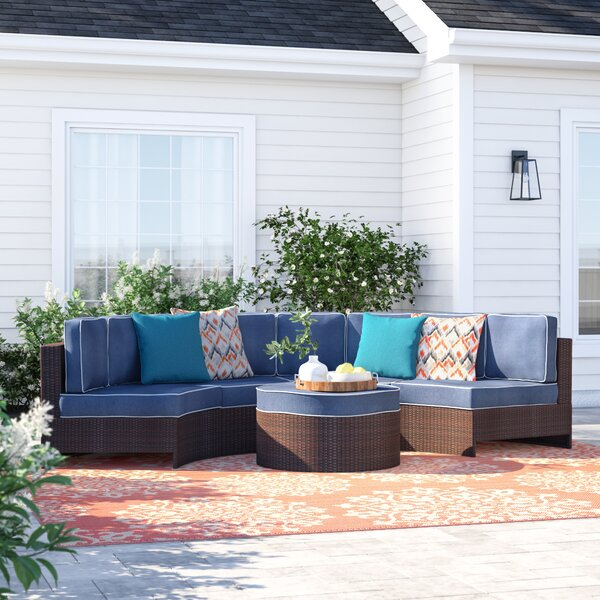 Bermuda 5 Piece Sectional Set with Cushions by Sol 72 Outdoor