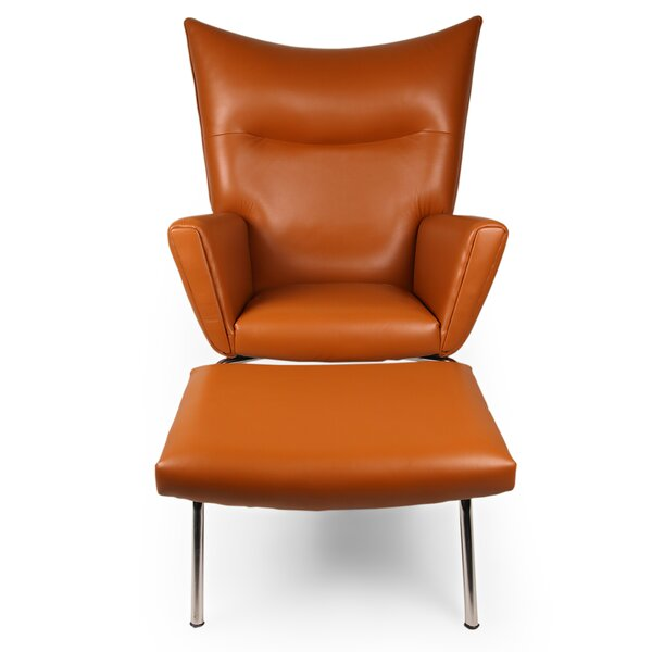 Wing Wingback Chair and Ottoman by Kardiel