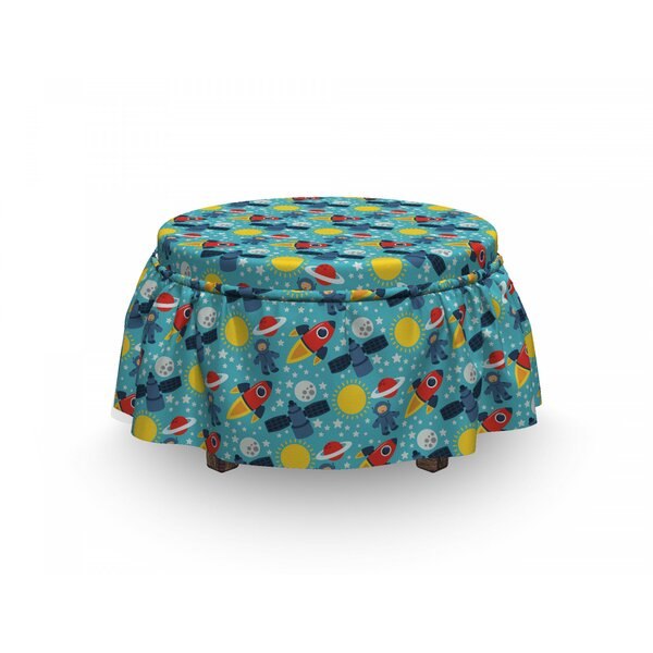 Baby Cosmonaut Space Ottoman Slipcover (Set Of 2) By East Urban Home