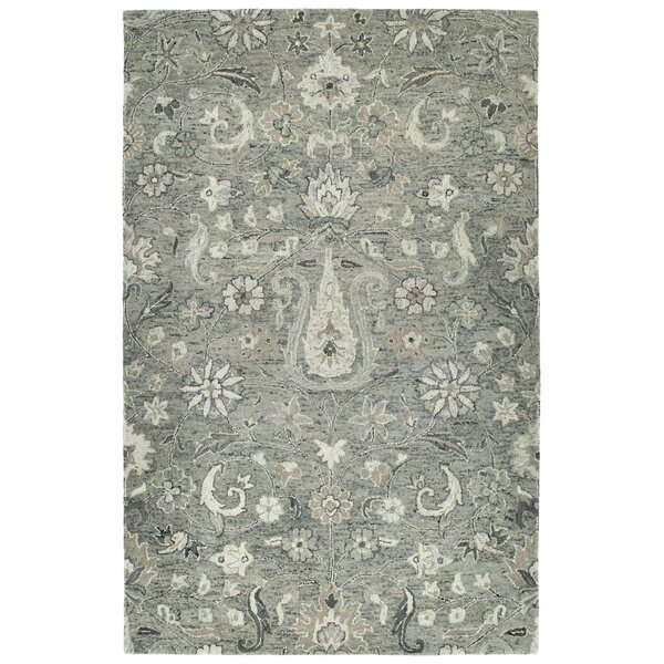 Toshiro Hand Tufted Wool Gray Area Rug by Bungalow Rose