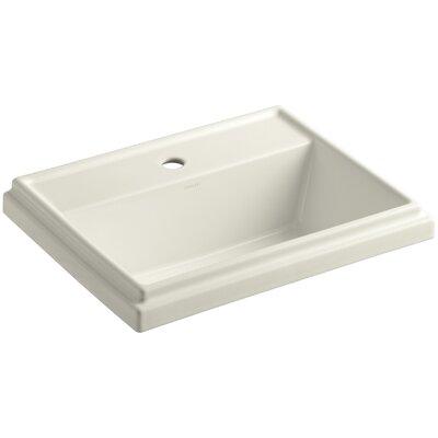 Drop Sink Ceramic Rectangular Overflow Faucet Single 1371 Product Photo