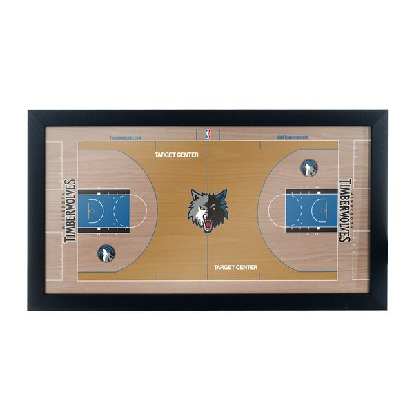 NBA Court Framed Graphic Art by Trademark Global