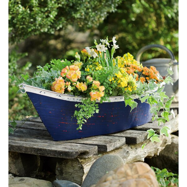 Boat Metal Pot Planter by Plow & Hearth