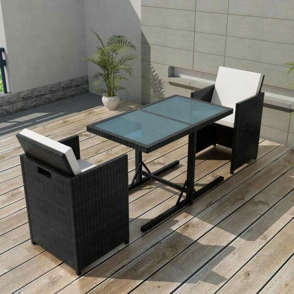 Christin 3 Piece Dining Set with Cushions by Ivy Bronx