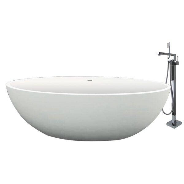 Sfera 66.54 x 36.42 Freestanding Soaking Bathtub by Transolid
