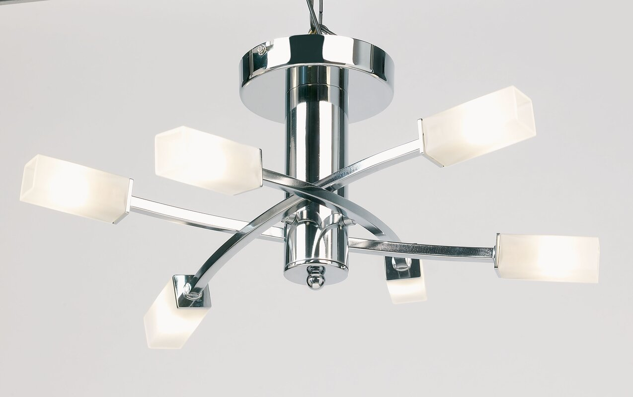 Endon Lighting Havana 6 Light Semi Flush Ceiling Light