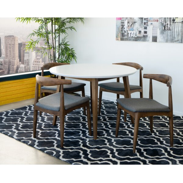 Keown 5 Piece Solid Wood Dining Set by George Oliver